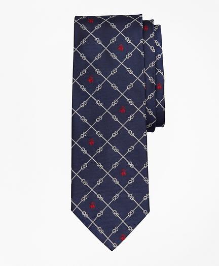 Brooksbrothers Nautical Knots and Fleece Tie