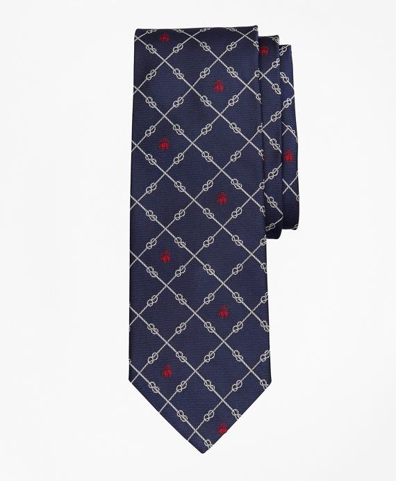 Nautical Knots and Fleece Tie Navy