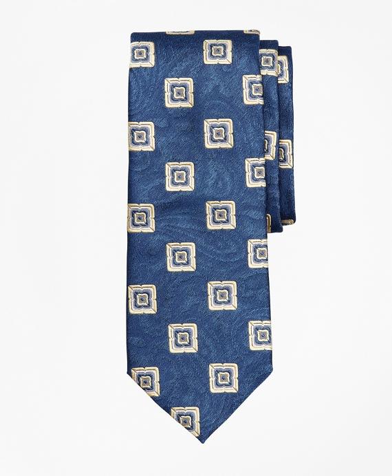 Paisley Medallion Tie Blue