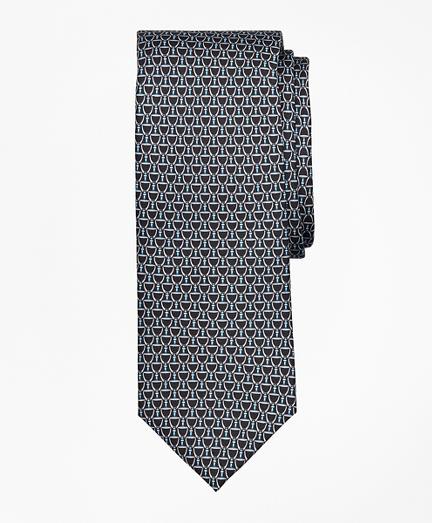 Horseshoe Print Tie