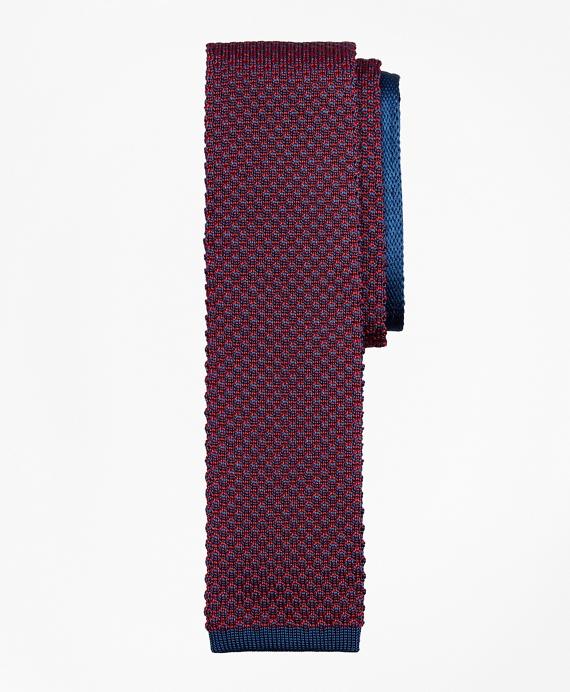 Bird's-Eye Knit Tie Red