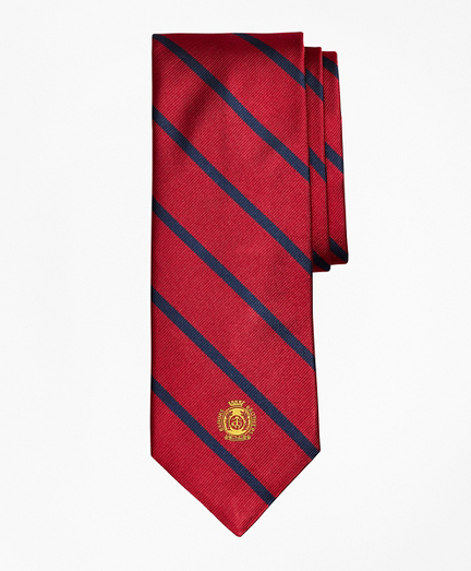 Limited Edition Archival Collection BB#3 Striped Rep with Crest Silk Tie