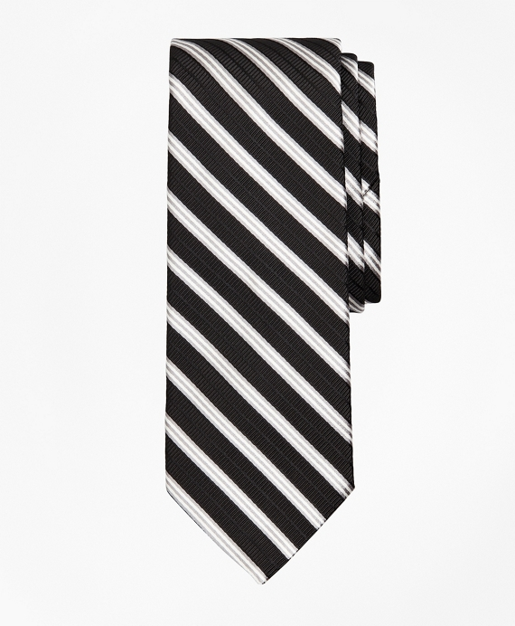 Ribbed BB#1 Rep Stripe Tie Black