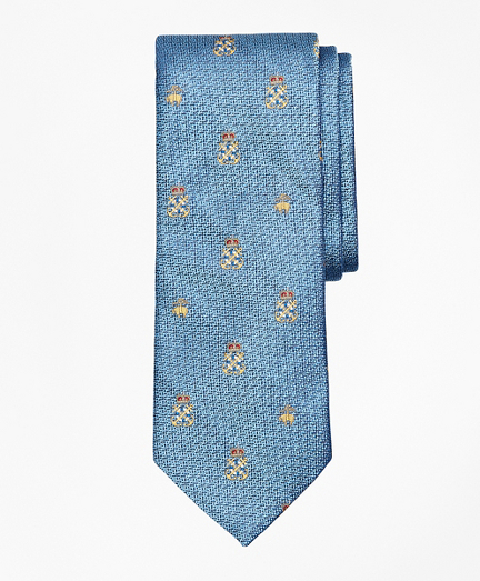 Fleece and Anchor Shield Tie