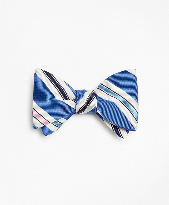 Mogador Stripe Bow Tie Blue
