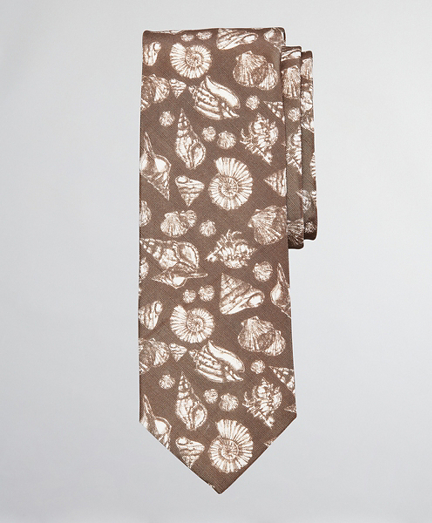 Silk and Linen Shell Tie