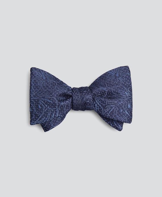 Indigo Tropical Bow Tie Navy