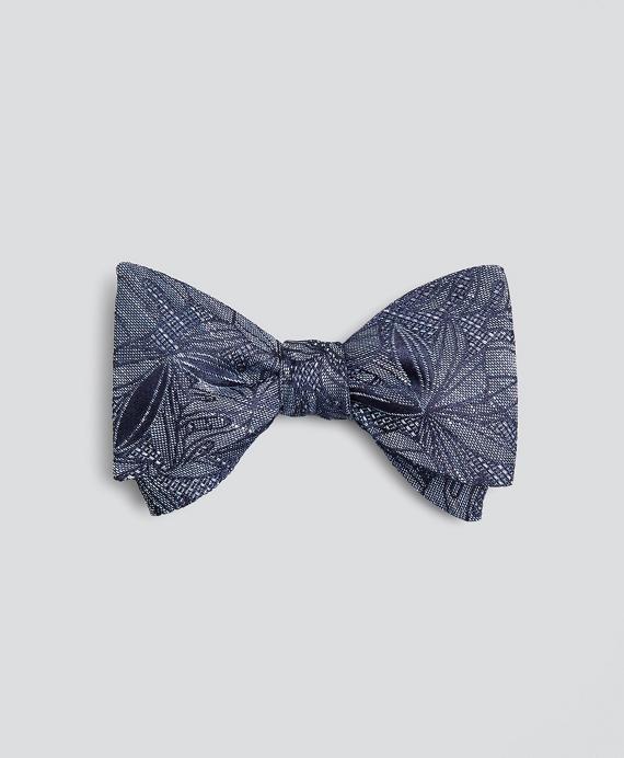 Indigo Palm Print Bow Tie Navy