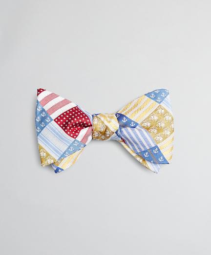 Multi-Patchwork Bow Tie