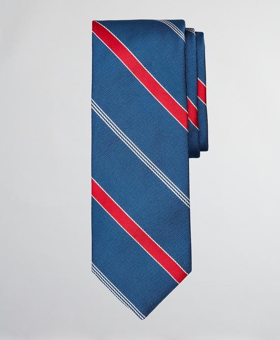 Dobby Stripe Tie Navy