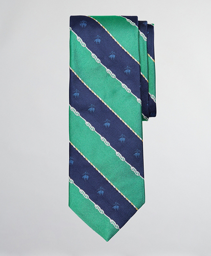 Nautical Fleece Stripe Tie