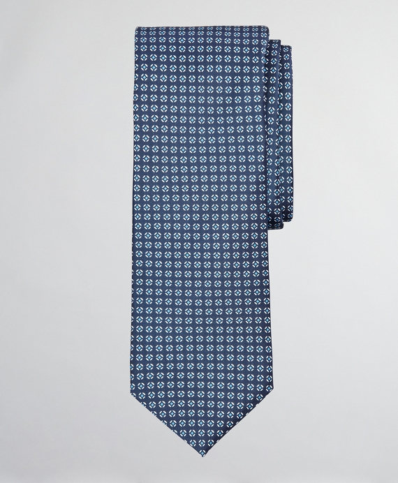 Geometric Print Tie Navy