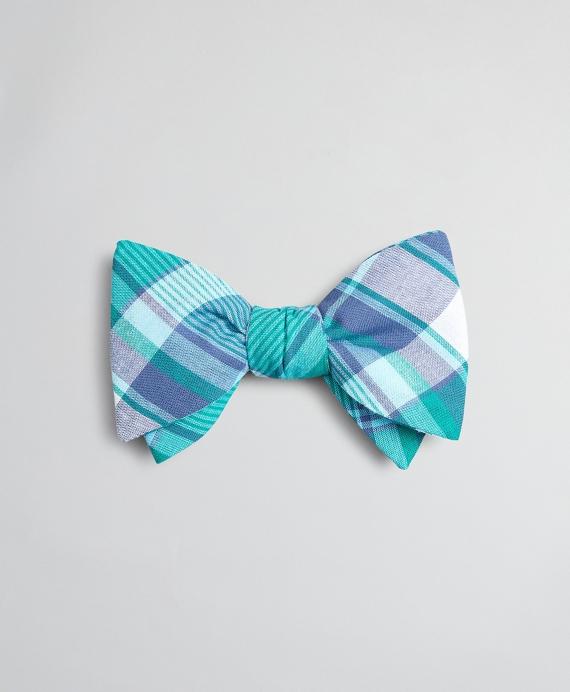Madras Bow Tie Pink