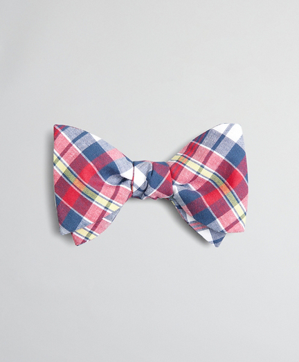 Red Madras Bow Tie