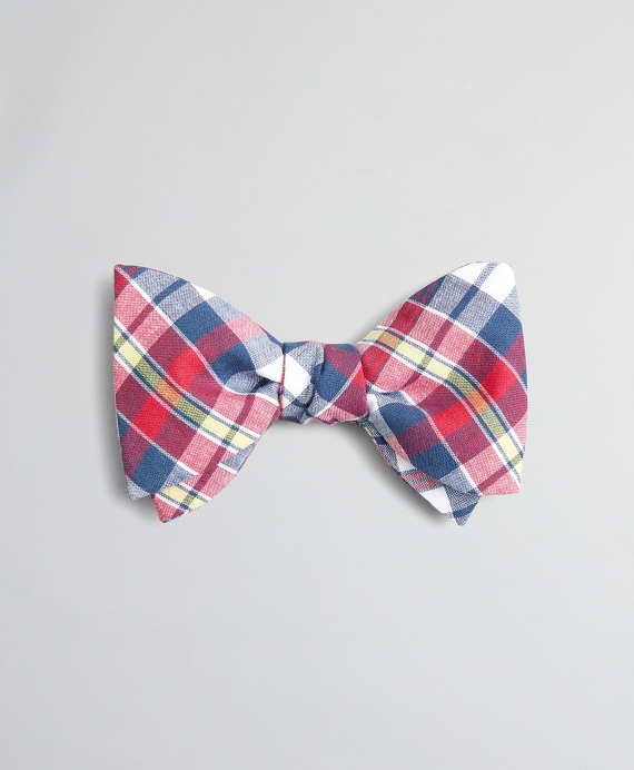 Red Madras Bow Tie Multi