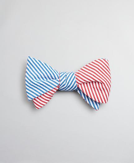 Seersucker Stripe Bow Tie