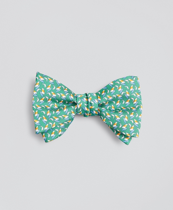 Sail and Dolphin Bow Tie Green