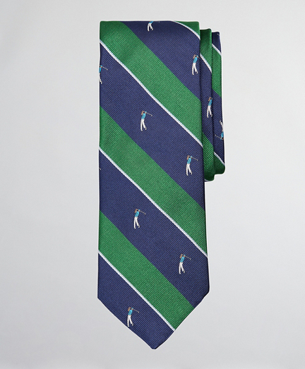 Golf Player Stripe Tie