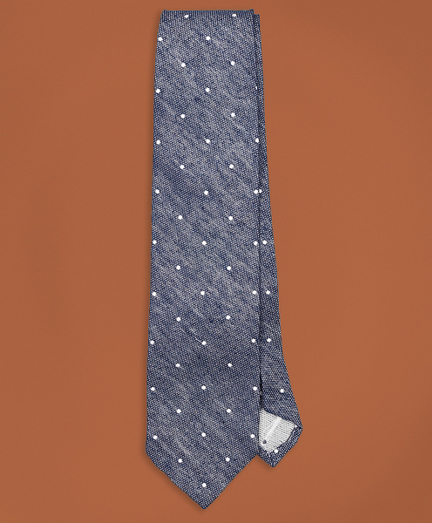 Golden Fleece® Dotted Silk-Linen Tie