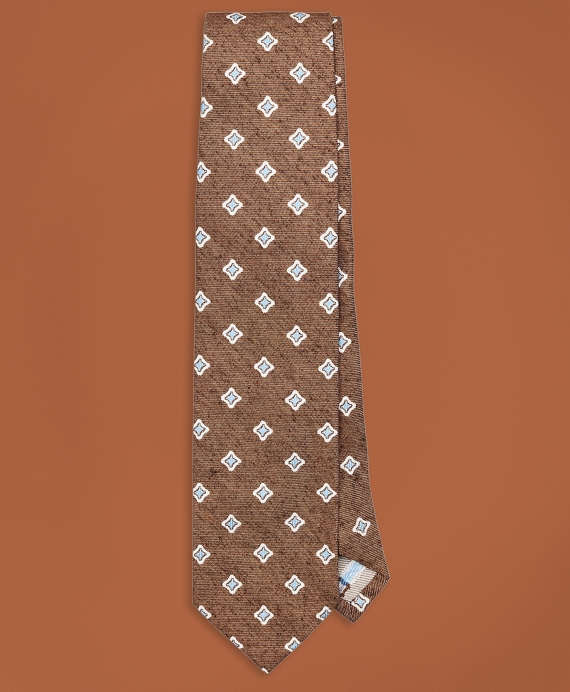 Golden Fleece® Neat Silk Tie Brown