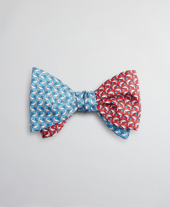 Two-Color Seagull Bow Tie Blue