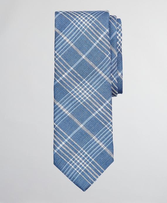 Simple Plaid Tie Blue
