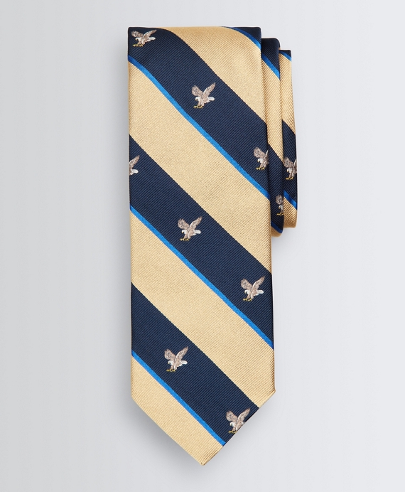 Eagle-Patterned Tie Yellow