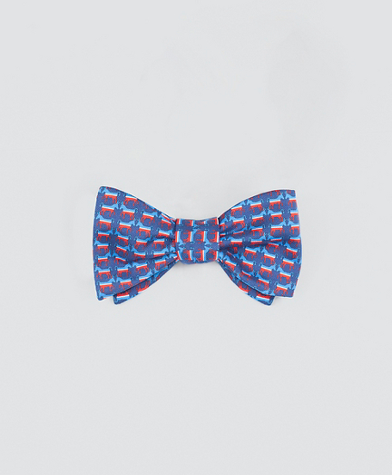 Donkey-Patterned Bow Tie