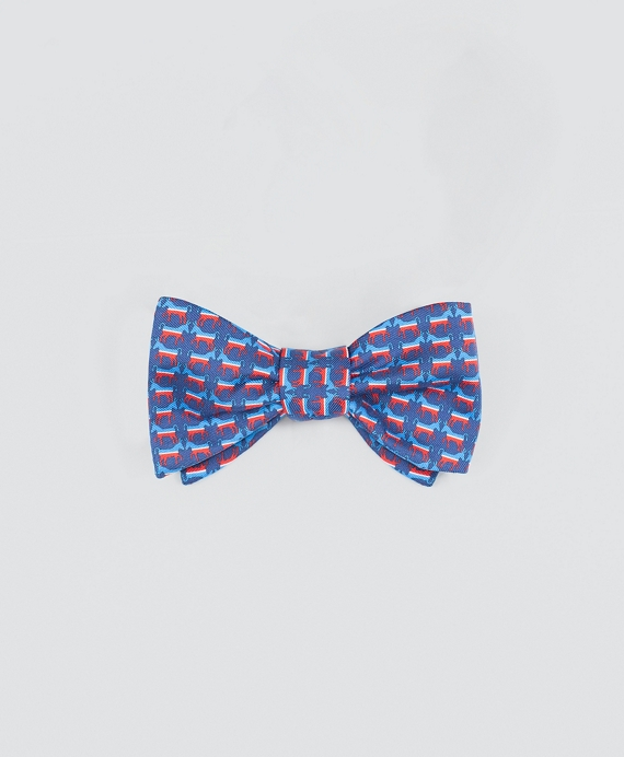 Donkey-Patterned Bow Tie Navy