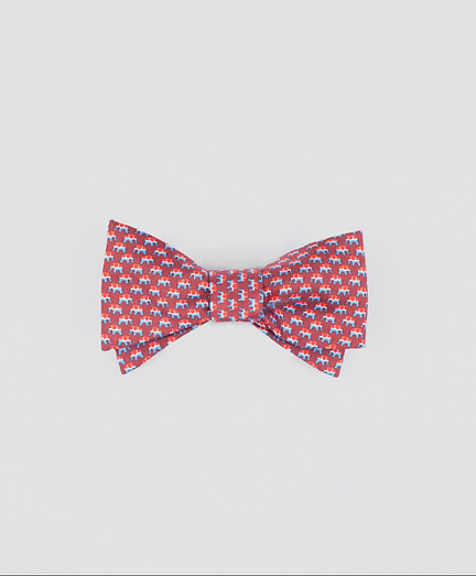 Elephant-Patterned Bow Tie