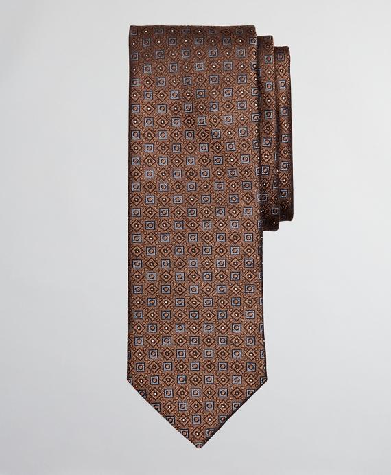 Melange Neat Tie Rust
