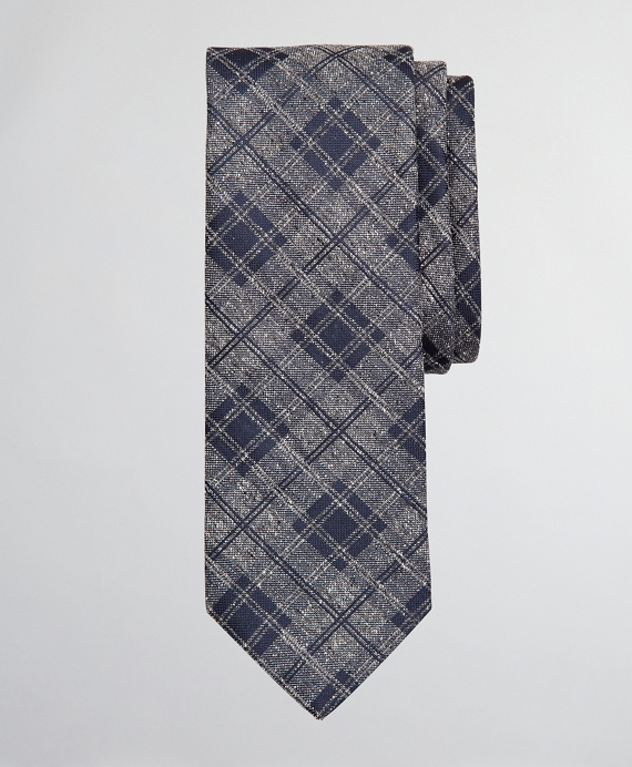 Donegal Plaid Tie Grey