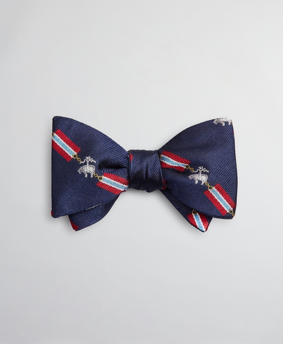 Fleece and Flag Bow Tie Navy