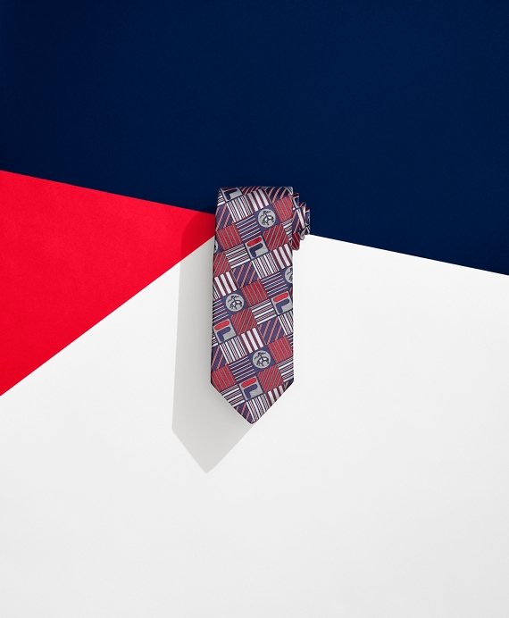 Brooks Brothers x FILA Pro Patchwork Tie Red
