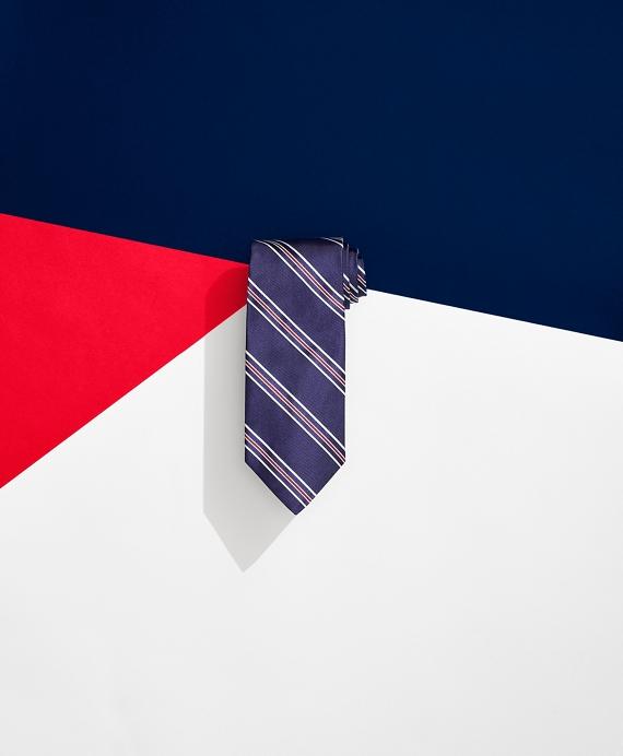 Brooks Brothers x FILA Pro Striped Tie Navy