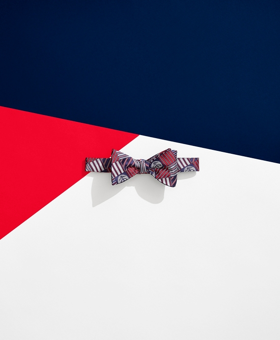 Brooks Brothers x FILA Doubles Reversible Bow Tie Red