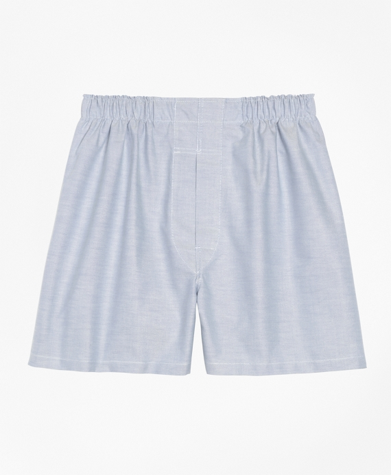 Traditional Fit Oxford Boxers Blue