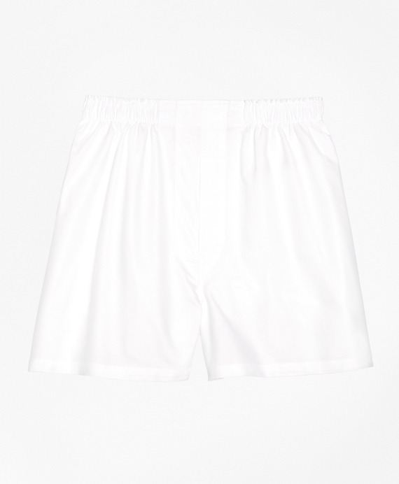 Traditional Fit Oxford Boxers White