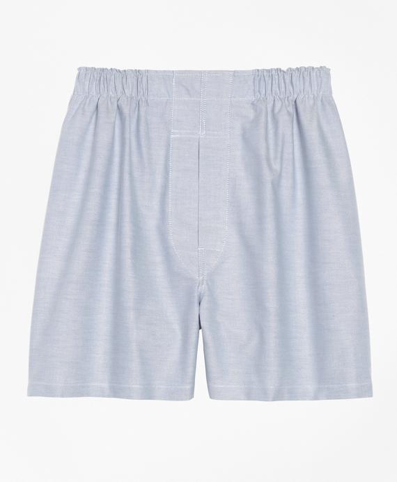 Slim Fit Oxford Boxers Blue