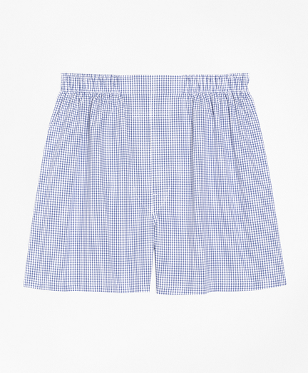 Traditional Fit Small Check Boxers