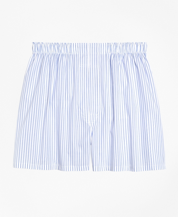 Traditional Fit Ground Stripe Boxers White
