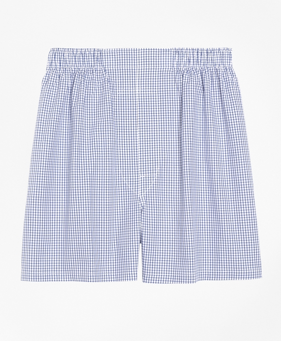 Slim Fit Small Check Boxers Navy