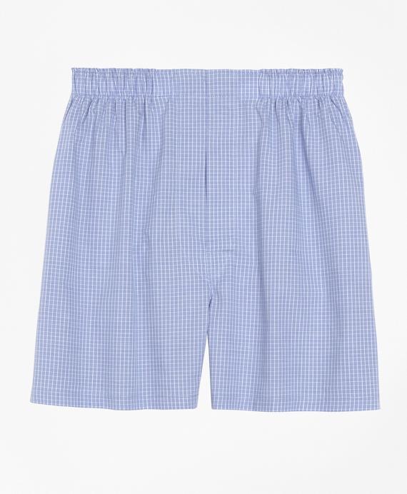 Slim Fit Mini Check Boxers Blue
