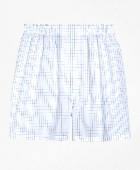 Slim Fit Windowpane Boxers White