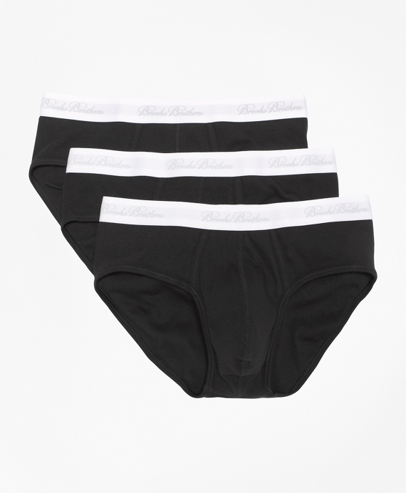Supima® Cotton Lowrise Brief-Three Pack Black