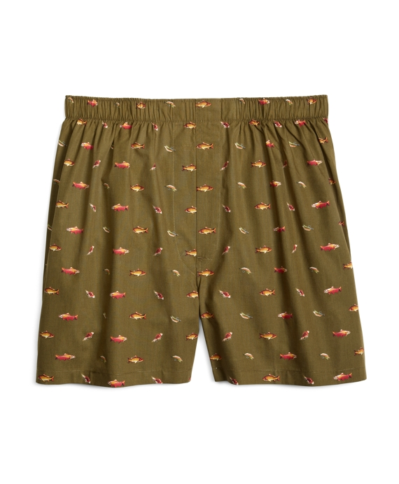 Slim Fit Fly Fishing Boxers Sage