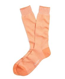 Textured Stripe Crew Socks