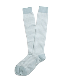 Pastel Herringbone Over-the Calf Socks