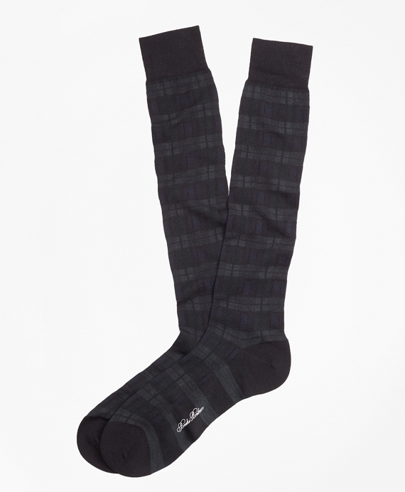 Black Watch Over-the-Calf Socks Navy-Green-Black