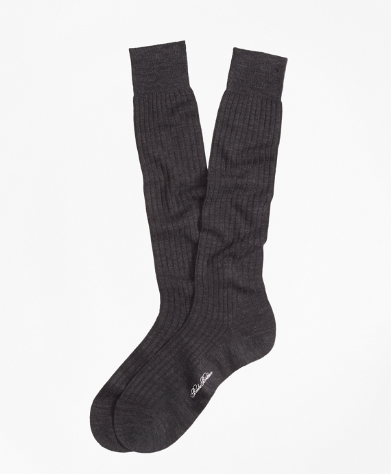 Ribbed Over-the-Calf Socks Charcoal